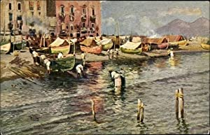 Künstler Ansichtskarte / Postkarte Napoli Neapel Campania,