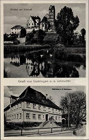 Ansichtskarte / Postkarte Gablingen in Schwaben, Kirche,