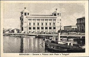 Ansichtskarte / Postkarte Siracusa Syrakus Sicilia, Darsena