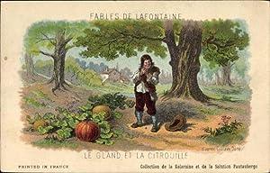 Künstler Ansichtskarte / Postkarte Fables de Lafontaine,