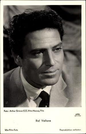 Ansichtskarte / Postkarte Schauspieler Raf Vallone, Portrait,