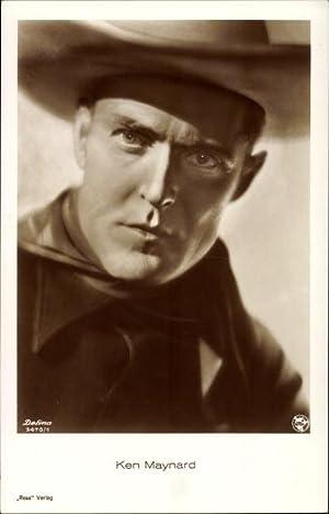 Ansichtskarte / Postkarte Schauspieler Ken Maynard, Portrait