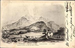 Künstler Ansichtskarte / Postkarte Pic du Midi