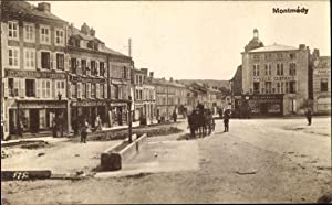 Ansichtskarte / Postkarte Montmédy Lothringen Meuse, Marktplatz,