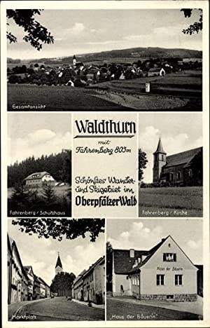 Ansichtskarte / Postkarte Waldthurn Kreis Neustadt an