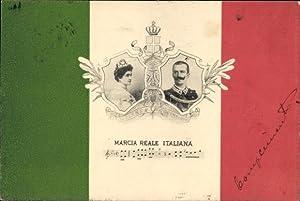 Lied Ansichtskarte / Postkarte Marcia Reale Italiana,