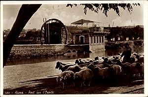 Ansichtskarte / Postkarte Hama Syrien, Pont sur