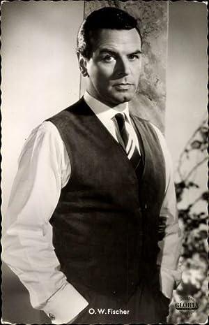 Ansichtskarte / Postkarte Schauspieler O. W. Fischer,