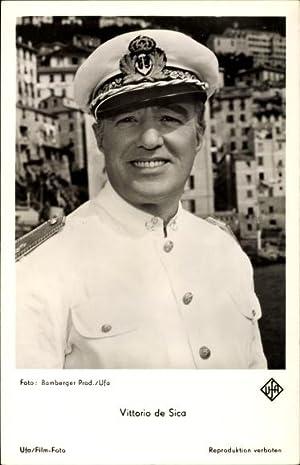 Ansichtskarte / Postkarte Schauspieler Vittorio de Sica,
