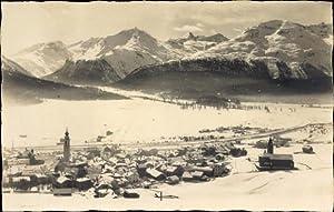 Foto Ansichtskarte / Postkarte Samaden Kanton Graubünden,