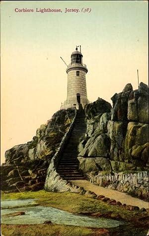 Ansichtskarte / Postkarte Jersey Kanalinseln, Corbiere Lighthouse,