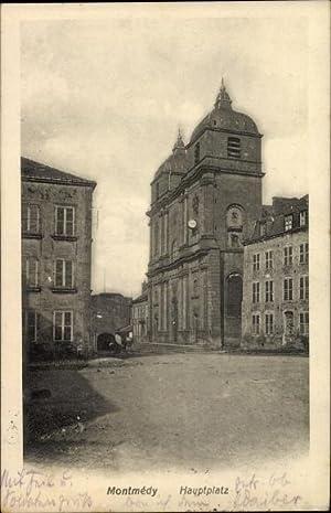 Ansichtskarte / Postkarte Montmédy Lothringen Meuse, Hauptplatz,