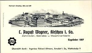Litho Schirgiswalde Kirschau in Sachsen, C. August