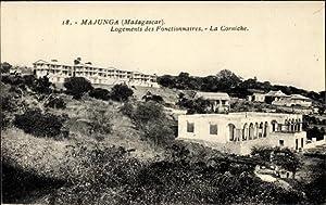 Ansichtskarte / Postkarte Majunga Madagaskar, Logements des