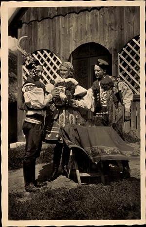 Ansichtskarte / Postkarte Moravske narodni kroje, Vlcnov,