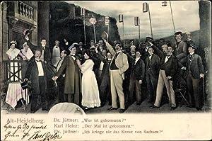 Studentika Ansichtskarte / Postkarte Alt Heidelberg, Theaterszene,