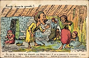 Künstler Ansichtskarte / Postkarte Maghreb, Fourbi dans