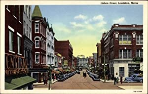 Ansichtskarte / Postkarte Lewiston Maine USA, Lisbon