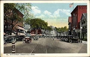 Ansichtskarte / Postkarte Greenfield Massachusetts USA, Main