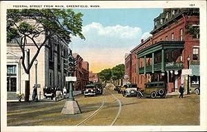 Ansichtskarte / Postkarte Greenfield Massachusetts USA, Federal