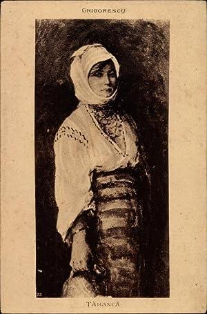 Künstler Ansichtskarte / Postkarte Grigorescu, Nicolae, Taranca,
