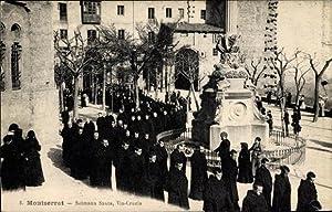 Ansichtskarte / Postkarte Montserrat Katalonien, Setmana Santa,