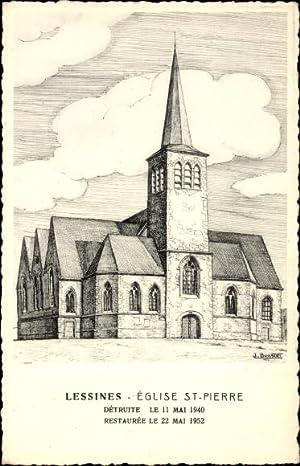 Künstler Ansichtskarte / Postkarte Boagert, J., Lessines