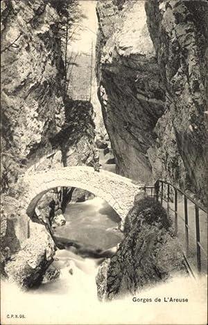 Ansichtskarte / Postkarte Areuse Kt. Neuchatel, Gorges