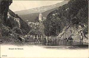 Ansichtskarte / Postkarte Areuse Kt. Neuenburg, Gorges