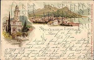 Litho Lugano Kt. Tessin Schweiz, Kirche San