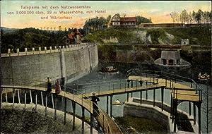 Ansichtskarte / Postkarte Marklissa Niederschlesien, Queisstalsperre, Sperrmauer,