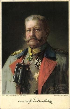 Künstler Litho Vogel, Hugo, Generalfeldmarschall Paul von