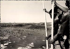 Ansichtskarte / Postkarte Zambeze Simbabwe, Rameurs sur