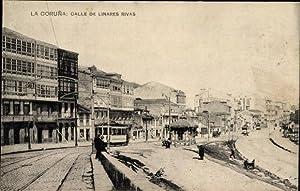 Ansichtskarte / Postkarte A Coruña Galicien, Calle