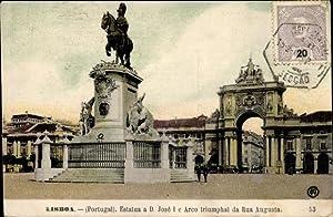 Ansichtskarte / Postkarte Lisboa Lissabon Portugal, Estatua