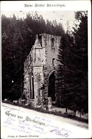 Ansichtskarte / Postkarte Oppenau im Ortenaukreis, Ruine