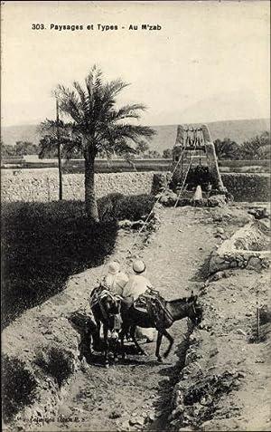 Ansichtskarte / Postkarte M'Zab Algerien, Paysages et