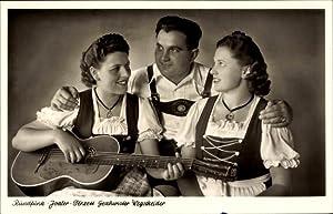 Ansichtskarte / Postkarte Rundfunk Jodler Terzett Geschwister
