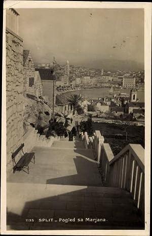 Ansichtskarte / Postkarte Split Kroatien, Pogled sa