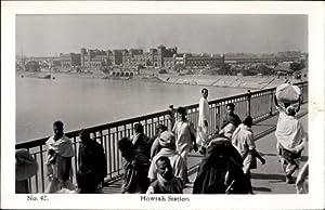 Ansichtskarte / Postkarte Kolkata Kalkutta Indien, Howrah