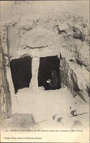Ansichtskarte / Postkarte Jerusalem Israel, Grotte où