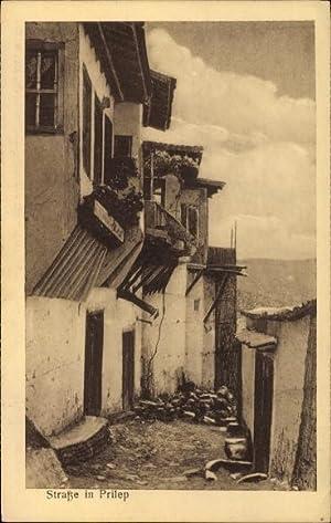 Ansichtskarte / Postkarte Prilep Mazedonien, Straßenpartie, Häuser