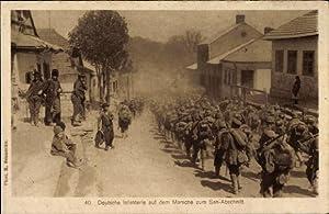 Ansichtskarte / Postkarte Deutsche Infanterie auf dem