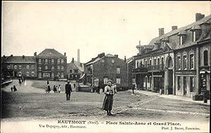 Ansichtskarte / Postkarte Hautmont Nord, Place Sainte