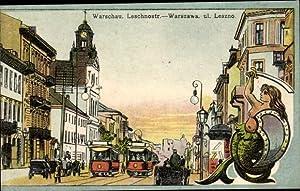 Ansichtskarte / Postkarte Warszawa Warschau Polen, Leschnostraße,