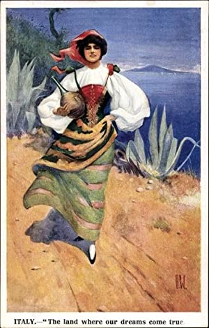 Künstler Ansichtskarte / Postkarte Italy, The land