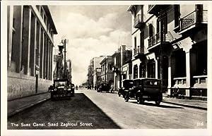 Ansichtskarte / Postkarte Suez Ägypten, Saad Zaghloul