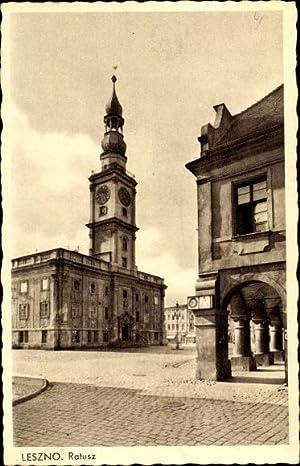 Ansichtskarte / Postkarte Lissa Leszno Posen, Ratusz,
