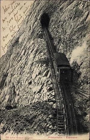 Ansichtskarte / Postkarte Kanton Obwalden, Pilatusbahn an