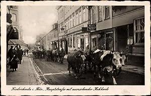 Ansichtskarte / Postkarte Friedrichroda, Hauptstraße, Kuhherde, Geschäft